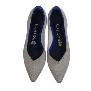 Rothy's The Point Flax Birdseye flats 7.5